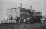 Bus of The Howick Motor Bus Co. outside Marine Hotel; circa 1904; 9601