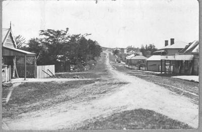 Picton Street looking towards Stockade hill; 1908; 1009