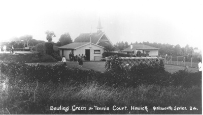 Bowling Green and Tennis Courts; c. 1910; 8010