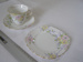 Teacup, saucer and plate; 2010.6.1,2,3