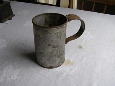 Plain tin mug