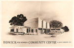 Proposed drawing of Howick War Memorial Community Centre, 1951; 1951; 11049