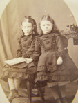 Carte de Visite. Portrait of two young girls.; Horswill & Palmer; 2011.72.32