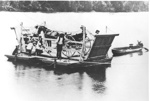 Gig crossing river by Punt; C. 1980; 9108