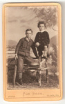 Carte de Visite of two unknown boys.; Foy Bros.; 2010.93.1