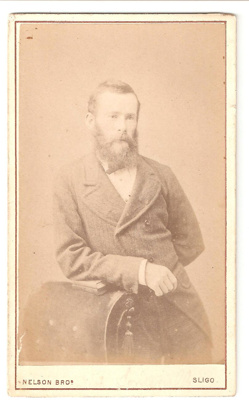 Carte de Visite of a man. Shot at a photo studio, ...