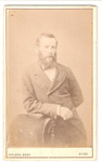Carte de Visite of a man. ; NELSON BROTHERS, photo studio; 2010.99.1