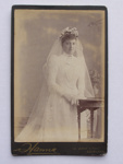 Carte de Visite - woman wearing wedding gown; Hanna, photo studio; 2012.38.1