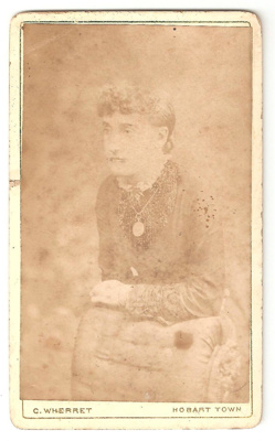 Carte de Visite of unknown woman wearing necklace ...