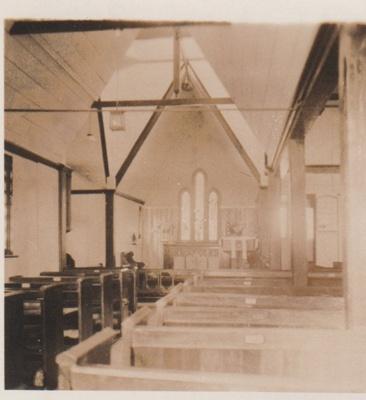 All Saints Church Interior; Hattaway, Robert; 1930-1950; 2018.226.02