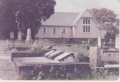 St Andrews Presbyterian Church on Ridge Road.; La Roche, Alan; 1/04/1983; 2018.254.05