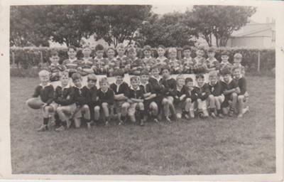 Howick District High School Football teams.; Phillips, J W, Onehunga; 15/10/1948; 2019.072.24
