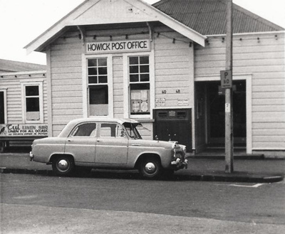 Howick Post Office, Picton St, Howick in 1969. Sam...