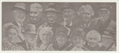 """13 people """"Old Pioners of Howick"""".; 1930; 2018.399.05"""