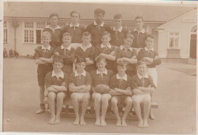 Howick District High School Rugby Football A team.; Sloan Photo Service; 1950; 2019.072.15
