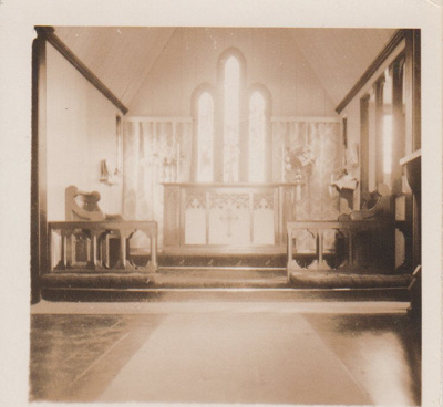 All Saints Church Interior; Hattaway, Robert; 1930-1950; 2018.226.03
