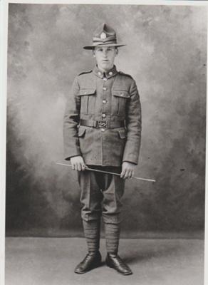James Isaac Grigg in his World War 1 uniform.; 1916; 2018.357.06