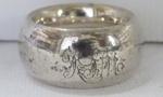 Silver serviette ring; O2017.153.05