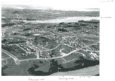 Aerial view of Pakuranga c.1965; Whites Aviation; 31.8.1967; 2016.494.98