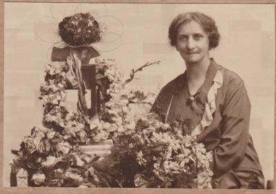 Miss Hunter, Postmistress of Howick taken on her retirement.; c1933; 2018.369.01