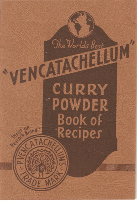 """Vencatachellum"" Curry Powder; Barker & Company; 1950's; Ephemera 001 Recipe Books"