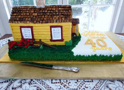 Howick Historical Village 40 years Celebratory Cake.; Warbrook, Ireen; 8 March 2020; P2021.01.02