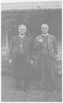 Archdeacon H A Hawkins and Archbishop A W Averill; c1930; 2018.241.03
