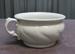 White Ceramic chamber pot; W Adams & Son; O2017.100.04