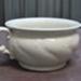 White Ceramic chamber pot; W Adams & Son; O2017.100.04