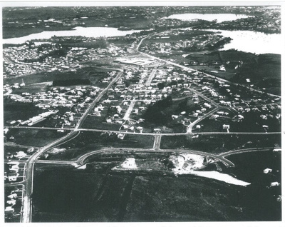 Aerial view of Pakuranga c.1965; Whites Aviation; c1970; 2016.494.100