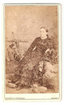 Carte de Visite of unknnown woman.; Wherrett & Mc Guffie, photo studio; 2010.100.1