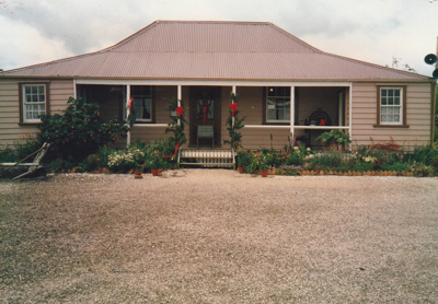 Eckford's homestead dressed for Christmas. ; Smith, Christina; December 1987; P2021.07.01