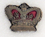 Badge from NZ military uniform - 1864; O2018.45