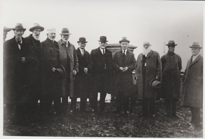 A group of men at the opening of the cemetary at All Saints Church; Grindrod, Albert; 1930; 2018.220.85