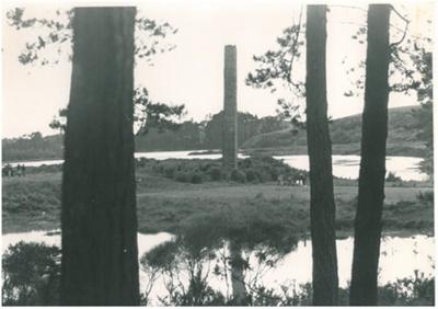 Granger Brick and Tile works chimney; N.Z.Herald; 1980; 2017.089.30