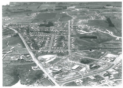 Aerial view of Pakuranga c.1970; Whites Aviation; c1970; 2016.494.103