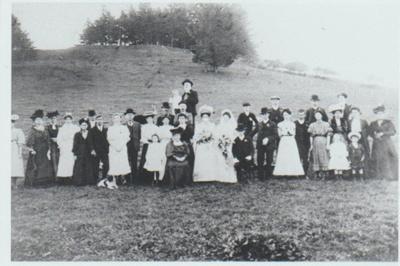 Delia Ann Fitzpatrick and Archibald John Forsman on their wedding day.; 29/04/1908; 2018.340.07