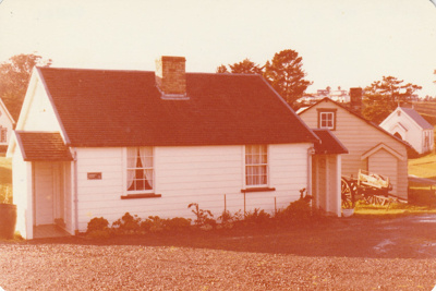 Briody-McDaniel's cottage, previously McDermott's, at the Howick Historical Village.; La Roche, Alan; August 1980; P2020.98.07