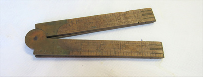 36 inch folding ruler with one section missing. Ma...