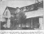Newspaper Clipping: Oldest Home in Clevedon; c. 1900