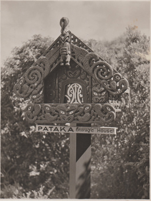 The Pataka (Storehouse) in the Tainui Garden of memories,1947.; Breckon, A.N., Northcote; 1947; 2019.089.03