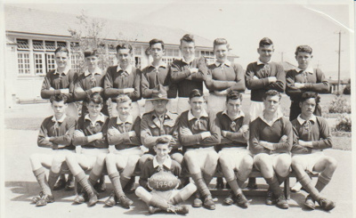 Howick District High School Rugby Football team.; Sloan Photo Service; 1950; 2019.072.05