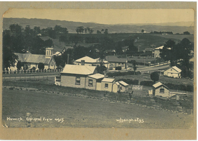 Howick General View 1913; Wilson, W T, Auckland; 1913; 2016.313.70