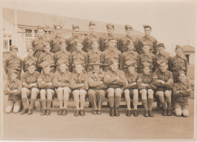 Howick District High School Military Cadets; Sloan Photo Service, Auckland; c1945; 2019.051.01