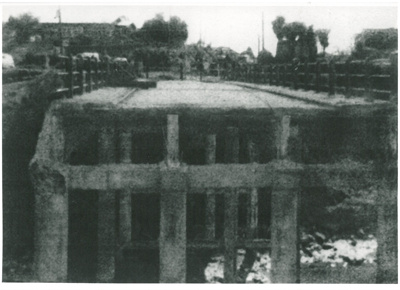 Demolishion of Panmure bridge; 1959; 2017.285.27