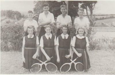Howick District High School Tennis team 1950; Sloan Photo Service; 1950; 2019.073.01