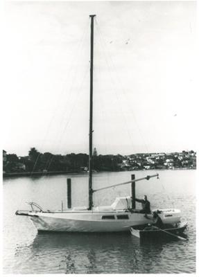 Yacht Carina on Tamaki River; 1977; 2016.637.44