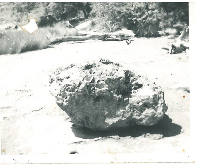 Anchor stone in the Turanga River; Cowley, Martin; 1922; 2017.077.17
