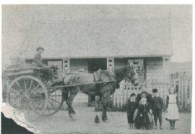 Fitzgerald's Pakuranga Post Office White family picnic at Bucklands Beach; 1895; 2016.626.29