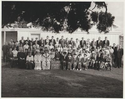 The congregation of St Luke's Church, Manurewa; Arnold, A, Manurewa; 1970; 2018.294.42